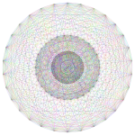 A circle with radial line pattern