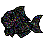 Fish Line Art Enhanced