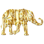 Abstract Elephant Gold