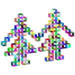 3D Open Boxes Pixel Dancers