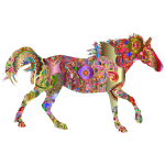 Decorated Horse Prismatic 4