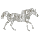 Decorated Horse Crystal