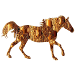 Decorated Horse Copper Alloy