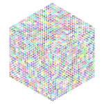 Isometric Peace Cube Prismatic No BG