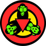 3 Wise Monkeys Sticker
