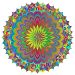 Mandala Line Art Design Polyprismatic
