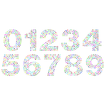 Numbers Circles Font Prismatic