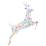 Leaping Deer Snowflakes Prismatic