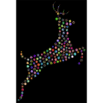 Leaping Deer Snowflakes Chromatic
