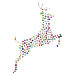 Leaping Deer Snowflakes Chromatic No BG