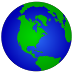 Simple Blue Earth Globe