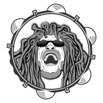 Rastafarian head monochrome