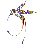 Ornamental Hummingbird Line Art Chromatic