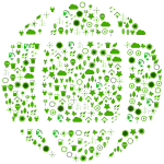Green Ecological Globe Icons
