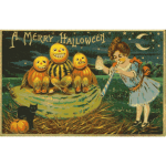 Halloween  retro card