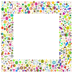 Abstract Geometric Party Frame Polyprismatic