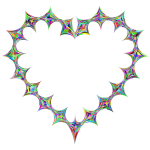 Stylized Checkered Geometric Heart Prismatic