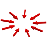 Isometric Arrows Pointing To Center