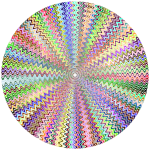 Dense Stylized Starburst Chromatic