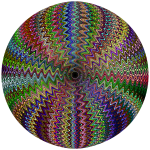 Dense Stylized Starburst Chromatic Sphere