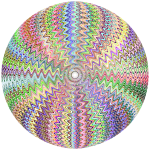 Dense Stylized Starburst Chromatic Sphere No BG