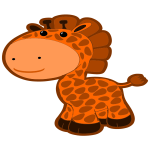 Cartoon Style Giraffe