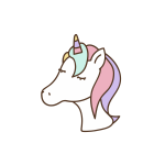Cute unicorn head