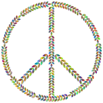 Laurel Peace Sign Polyprismatic
