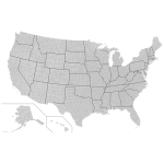 United States With County Borders