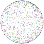 Abstract Molecular Sphere Prismatic