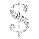 Dollar sign with pattern