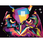 Geometric Owl Pop Art By RizkyDwi123