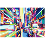 Geometric City Pop Art By RizkyDwi123