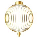 Christmas Ornament Silhouette Gold No BG