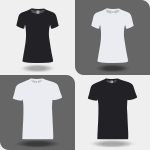T-shirts gray scale