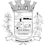 Seal of Wenceslau Braz - Black and White