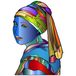Girl With Pearl Earring By GimpWorkshop Surreal