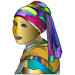 Girl With Pearl Earring By GimpWorkshop Surreal 2