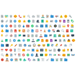 Huge Flat Icons Set
