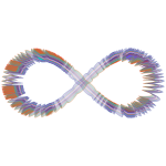 Abstract Prismatic Infinity Symbol