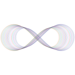 Abstract Prismatic Infinity Symbol IV