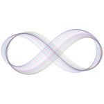 Abstract Prismatic Infinity Symbol VI