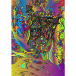 Fantasy Flourish Line Art Surreal 2