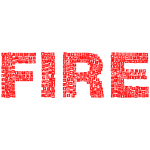Fire Icons Typography