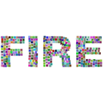 Fire Icons Typography Prismatic