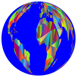 Low Poly Earth Globe