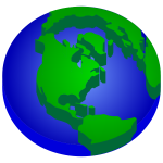 3D Elevated Earth Globe