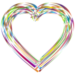 Stylized Heart Design Polyprismatic