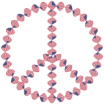 American Flag Twist Peace Sign