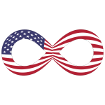 American Flag Infinity With Stroke